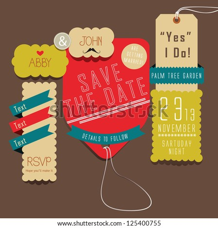 Save The Date - Yes I Do - stock vector