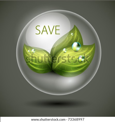Save the nature - vector environmental symbol - stock vector
