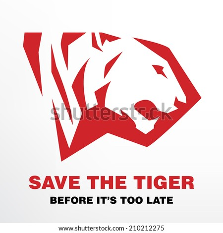 Save the Tiger before it's too late concept - stock vector