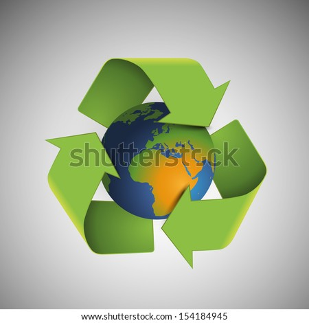 Save The World - Environmentally Friendly Planet | Vector Illustration