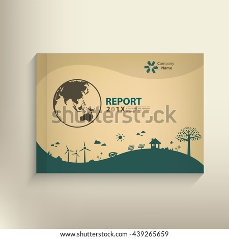 Save the world vector CSR report Cover design for GO green concept. - stock vector