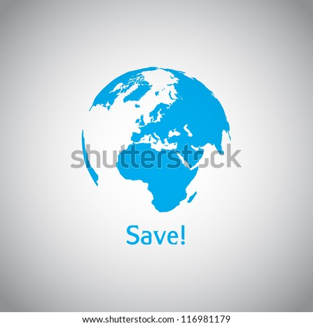 Save the World vector symbol