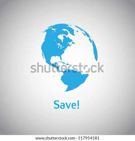 Save the World vector symbol - stock vector
