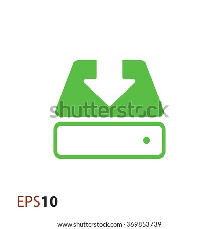 Save to hard drive icon for web - stock vector