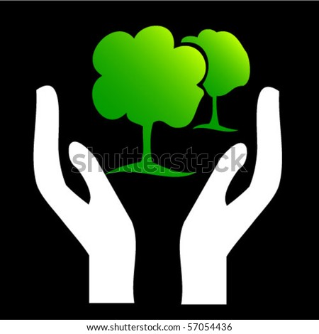 save trees - vector illustration - stock vector