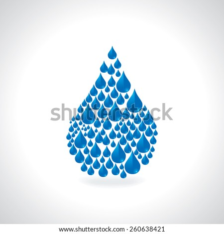 save water concept drop created by water drop illustration - stock vector