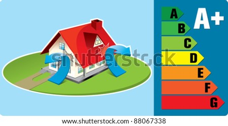 saving energy - stock vector
