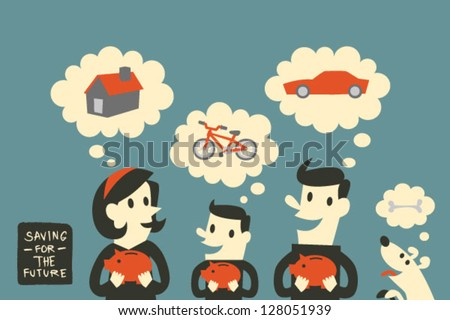 Saving for the future - stock vector