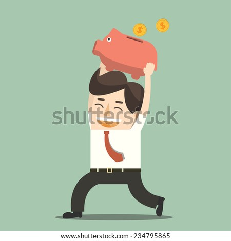 Saving money - stock vector