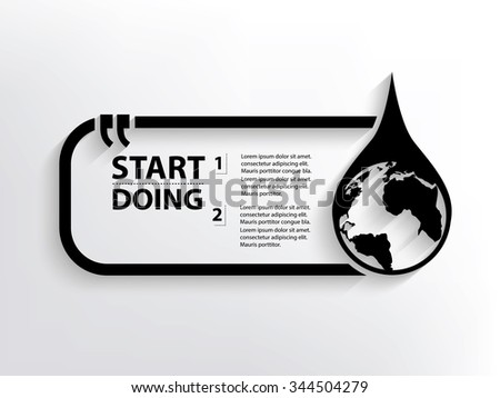 Saving water Quotation Mark Speech Bubble,design - stock vector