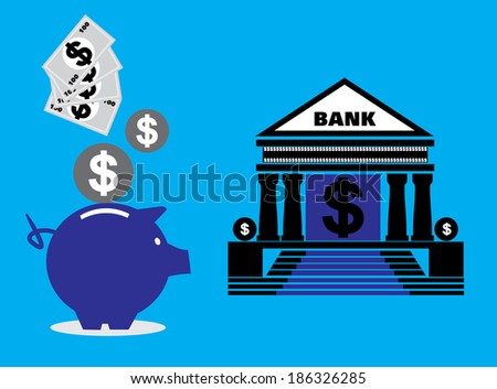 Savings and investment concept  - stock vector
