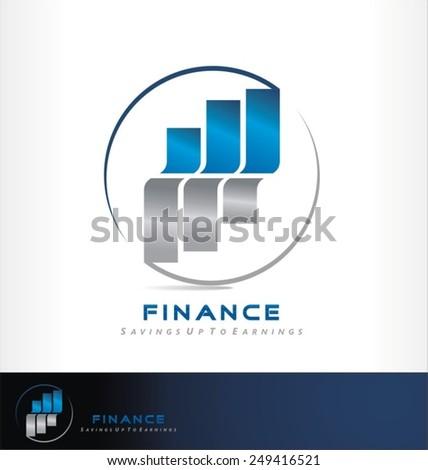 savings logo vector - stock vector