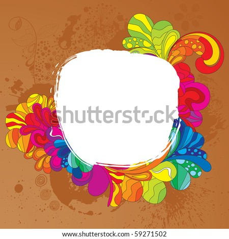 Savoury frame for your cheerful design - stock vector