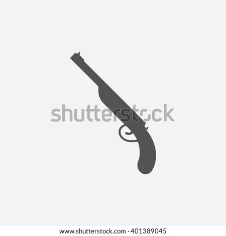 Sawed-off shotgun icon. Sawed-off shotgun icon vector. Sawed-off shotgun icon simple. Sawed-off shotgun icon app. Sawed-off shotgun icon new. Sawed-off shotgun icon logo. Sawed-off shotgun icon sign.  - stock vector