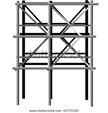 scaffold isolated on white - stock vector