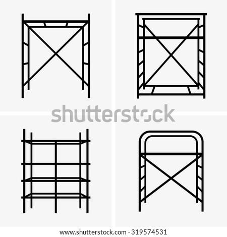 Scaffolding - stock vector