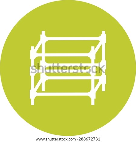 Scaffolding, steel, engineering icon vector image. Can also be used for construction, interiors and building. Suitable for use on web apps, mobile apps and print media. - stock vector