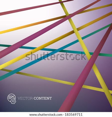 Scalable eps10 vector design. Composition of colorful crossing strips. For cartoon style abstract background graphics.  - stock vector