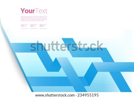 Scalable Eps10 vector illustration of a simple isometric pathway composition for brand design concept graphics element - stock vector