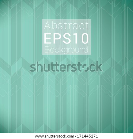 Scalable seamless minimal geometric pattern with transparent text box  - green- turquoise version