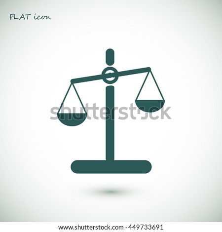 scale - stock vector