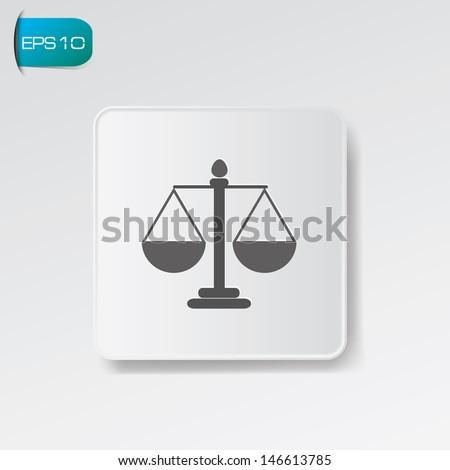 Scale balance symbol,vector - stock vector