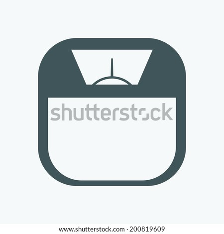 Scale icon - stock vector