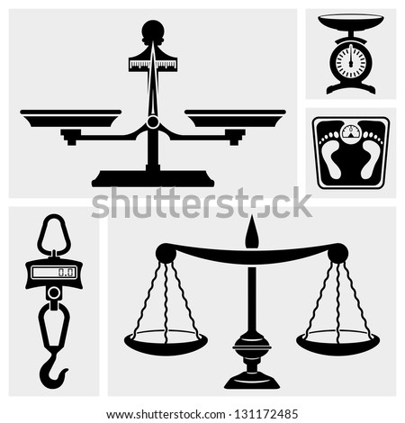 Scale icon. Bathroom Weight Scale.Hook scale. - stock vector
