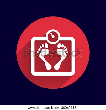 Scale icon iweight vector diet symbol dieting balance. - stock vector