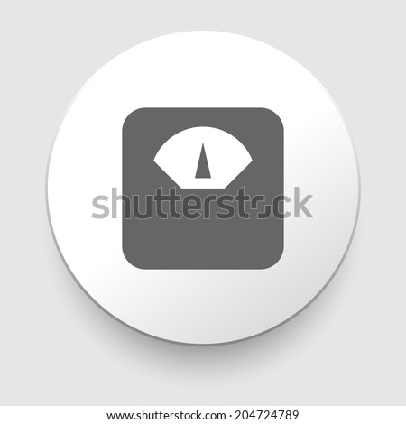 Scale icon on white background. EPS10 symbol - stock vector