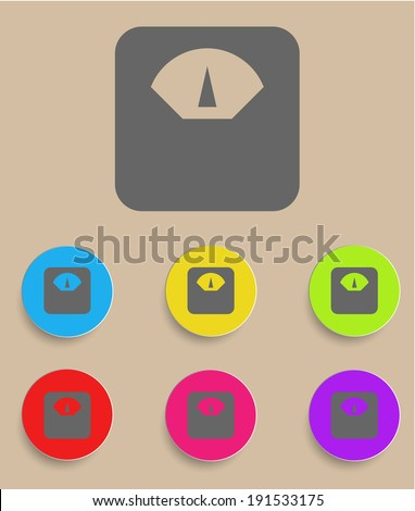 Scale icon with color variations, vector - stock vector