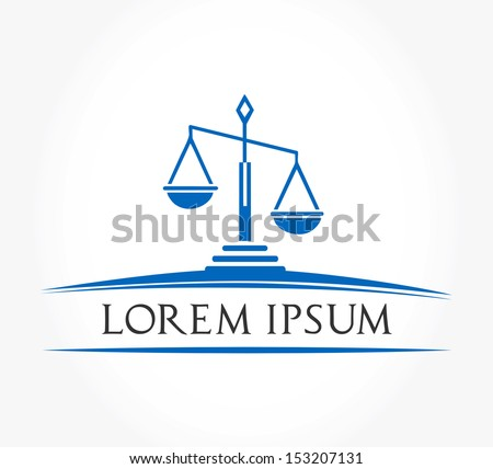 Scale of justice symbol - stock vector