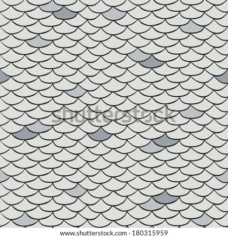 Scale pattern gray - stock vector