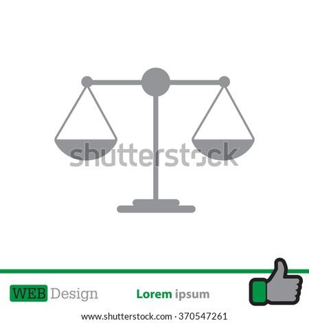 Scales balance icon - stock vector
