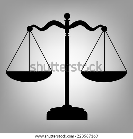 Scales balance icon. Vector illustration - stock vector