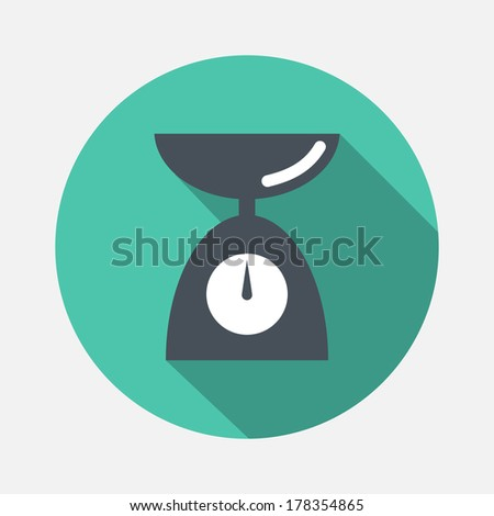 scales icon - stock vector