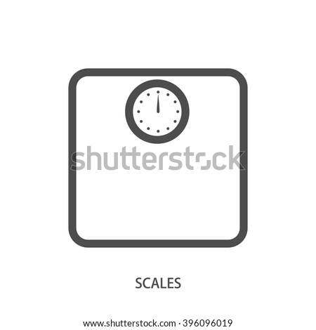 Scales icon lineart