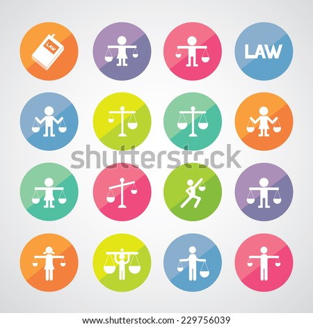 scales icon on gray background  - stock vector