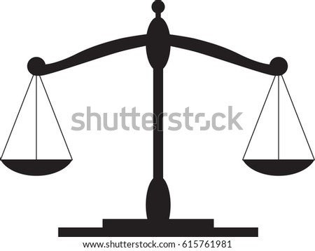 scales justice stock vector 615761981 shutterstock rh shutterstock com Scales of Justice Logo Scales of Justice Logo