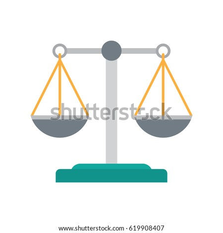 scales justice icon empty scales law stock vector 2018 619908407 rh shutterstock com scales of justice vector clip art scales of justice vector logo
