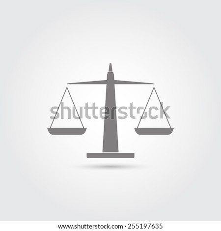 Scales of justice icon - Vector - stock vector