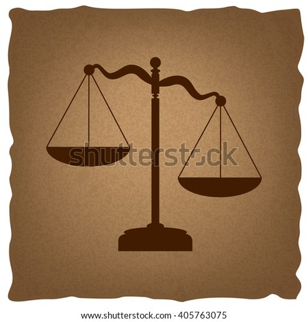Scales of Justice sign