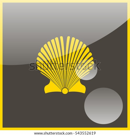 Scallop seashell.