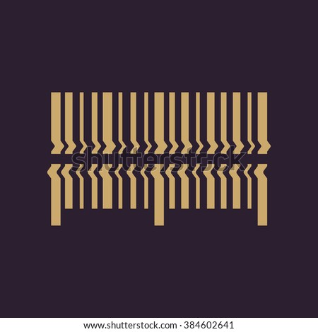 Scan the bar code icon. Barcode scanning symbol. Flat Vector illustration - stock vector