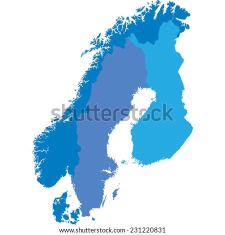 scandinavia - stock vector