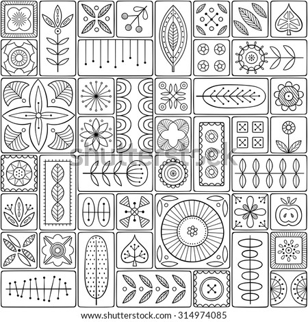 Scandinavian Pattern Stock Images Royalty Free Images