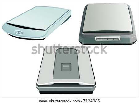 scanners - stock vector
