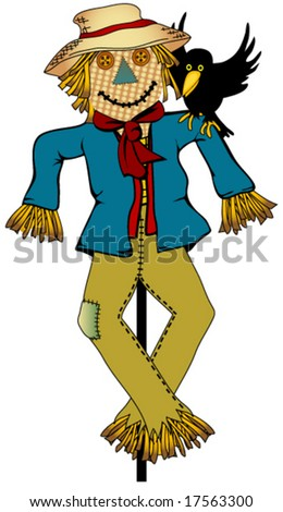 Scarecrow. - stock vector