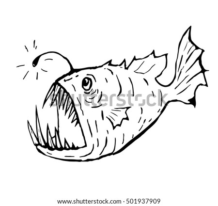 Lantern Fish Coloring Pages
