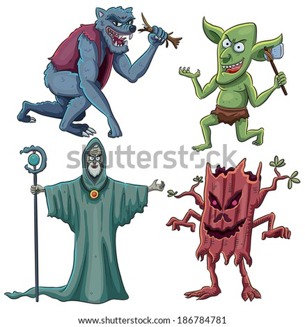 Scary Creatures - stock vector